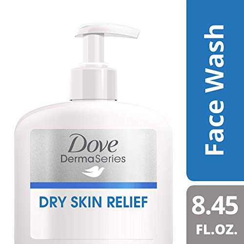 Dove DermaSeries Fragrance-Free Face Wash, for Dry Skin, 8.45 oz (Dove Facial Wash)