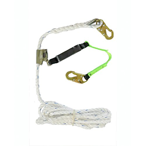 Peakworks V8257272 Fall Protection, Contractor/Industrial Roofer's Kit, 25 ft, Universal Size Harness by Peakworks (Image #2)