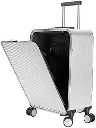 bb36475cb Carry On Luggage, All Aluminum Hard Shell Carry On With TSA Lock Spinner  Wheels (