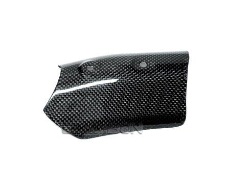 2007 - 2012 Ducati 1198 1098 848 Carbon Fiber Upper Heat Shield Carbon Fiber Heat Shield