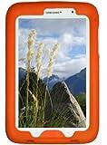 Bobj Rugged Case for Samsung Galaxy Note 8 Tablet, Model GT-N5100, GT-N5110, GT-N5120 - BobjGear Custom Fit - Patented Venting - Sound Amplification - BobjBounces Kid Friendly (Outrageous Orange)