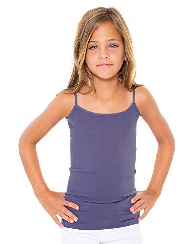 Malibu Sugar Girls (7-10) Full Cami One Size Charcoal