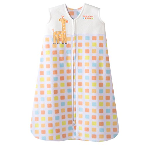 HALO SleepSack Micro Fleece Wearable Blanket, Multi Blocks, Large by Halo