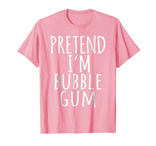 Funny Lazy Halloween Costume Shirt - Pink Bubble Gum Candy -