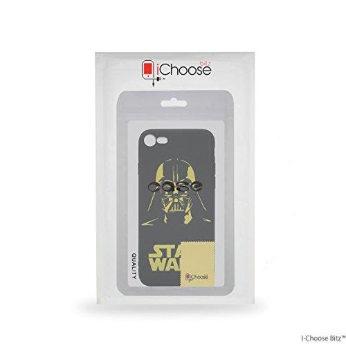 iPhone 7 Star Wars Estuche de Silicona / Cubierta de Gel para Apple iPhone 7 / Protector de Pantalla y Paño / iCHOOSE / Star Wars Darth Vader