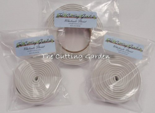 Floral Clay Adhesive Tape - White - 1/2