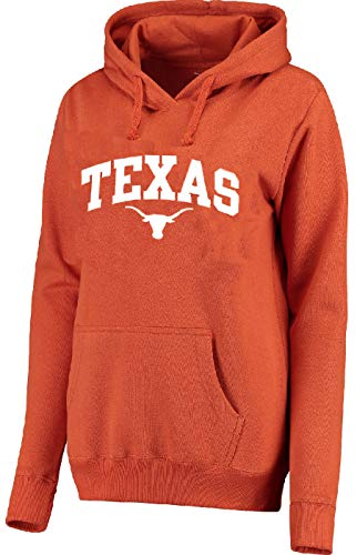 (289c apparel Women's Texas Longhorns Tx. Orange Arch Embroidered Hoodie Sweatshirt (Medium))