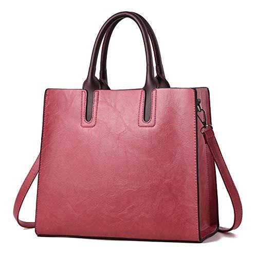 Durable Gorgeous Rojo Rfvbnm Moda Para Elegante Encantador Rosado Bolso Diseño Mujeres Top Vino Tote De Hombro Bolsos Handle OrPZq8Ox