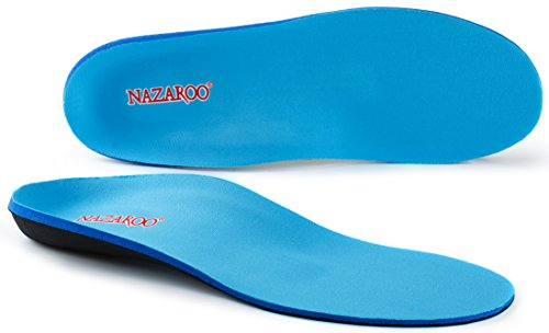 Women Shoes For Flat Feet (Orthotic Insoles for Flat Feet by NAZAROO, Shoe Inserts for Plantar Fasciitis, Foot Pain, Heel Pain and Pronation Relief for Most Men or Womens Shoes/Boots (US Mens 6-6.5 | Womens 8-8.5))