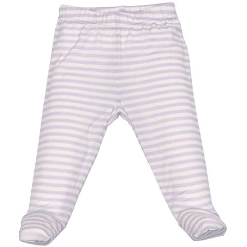 Woolino Baby Girls Footed Romper Pants, Merino Wool, 6-9 Months, Lilac