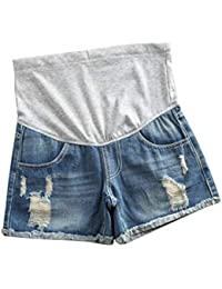 caa1cfaca7 Women Maternity Jeans Shorts Pregnancy Pants Denim Maternity Clothes Short  Pants Summer Care Belly Shorts Blue