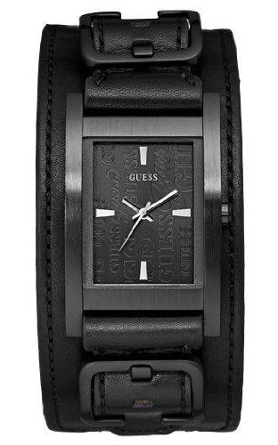 Guess W85094G1 - Reloj analógico de cuarzo para hombre con correa de piel, color negro: Amazon.es: Relojes