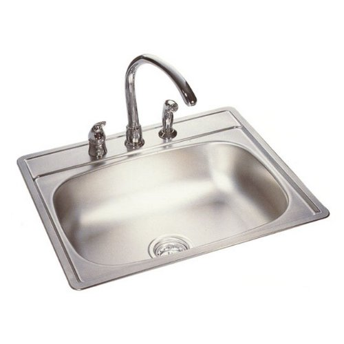 by Kindred Kio2P#Kindred KSSXUA//9D Single Bowl Stainless Steel Undermount Kitchen Sink Silk