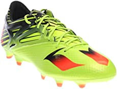 abc7ac2f9752e3 adidas Mens Messi 15.1 Semi Solar Slime Solar Red Black Sneaker 8.5 D (M)