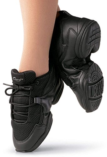 Capezio Womens Ds11 Felle Dance Sneaker, Zwart, 6 M Us