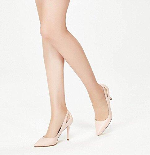 Cómodas De Zapatos Estilete Bombas Boda Nueva Punta Del De Moda Ximu Sandalias Huecos Femeninas Pink fw1UaqOUn