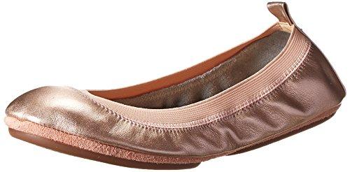 Yosi Samra Women's Samara Metallic Leather Rose Gold Flat 6 M (Flats Leather Ballet Metallic)