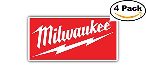 Milwaukee Tools Tool USA Red Car Bumper Window Tool Box Sticker Decal (Stickers Wax Box)