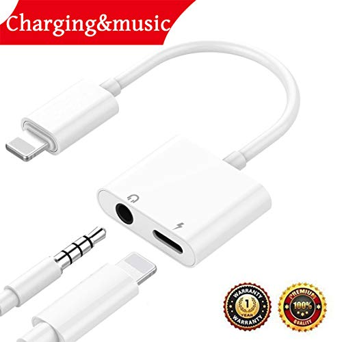 Mini Headphone Splitter Designed - Headphone Adaptor for iPhone Adapter 3.5mm Jack Dongle Earphone Connector Convertor AUX Audio Headset Accessories Cable Audio Splitter Compatible for iPhone X XS XS Max 8/8Plus Support iOS 11 or Later