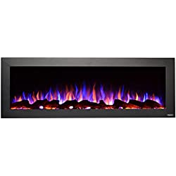 "Touchstone 80017 Sideline Outdoor/Indoor 50"" No Heat Electric Fireplace, 50 inch Wide, Black"