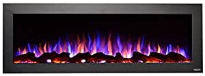 "Touchstone 80017 Sideline Outdoor/Indoor 50"" Electric Fireplace, 50 inch wide, Black"