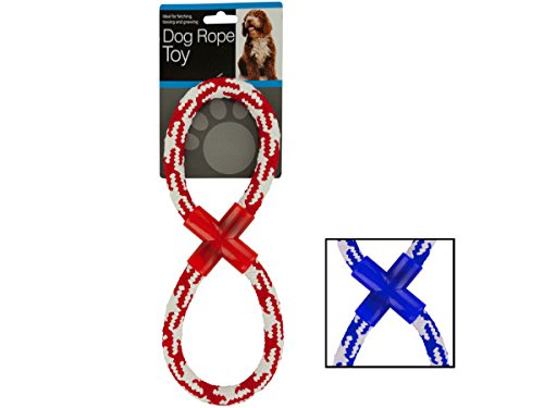 Woven Figure Eight Dog Rope Toy - Pack of (Figure 8 Rope Toy)