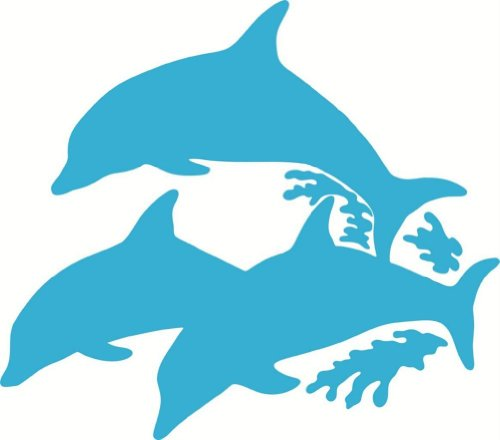 10 Photo Dolphins (Design with Vinyl Design 170 - Teal Dolphin Animal Picture Art Vinyl Wall Decal Sticker, 10-Inch By 10-Inch, Teal)