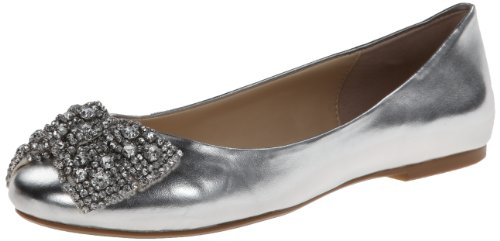 Blue by Betsey Johnson Women's SB-Ever Ballet Flat,Silver...