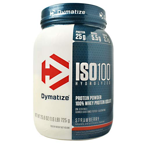 Dymatize ISO 100 Hydrolyzed Whey Protein Isolate - Strawberry- 1.6 lbs ()