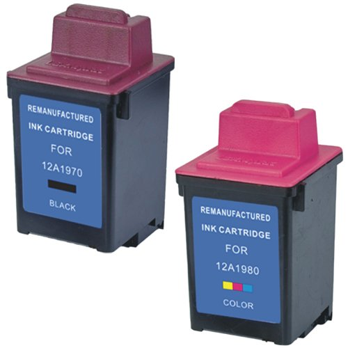 - Amsahr 12A1970 Remanufactured Replacement Lexmark Ink Cartridges for Select Printers/Faxes