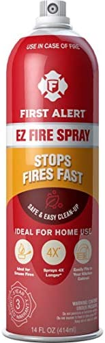 First Alert Fire Extinguisher | EZ Fire Spray Fire Extinguishing Aerosol Spray, AF400