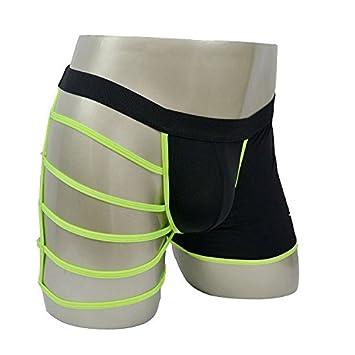 EIE Ropa Interior Masculina de Los Hombres Translúcidos Pantalones de Piernas Cruzadas,B,Todo