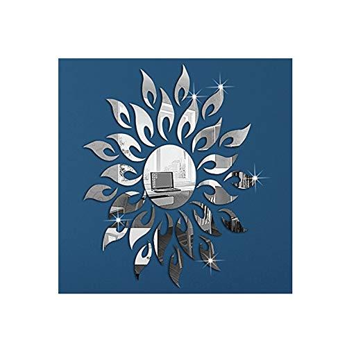Alrens(TM) 27Pcs Sparkly Sun Pattern Acrylic Crystal Decals DIY 3D Modern Design Mirror Surface Wall Sticker Living Room Children Room Mural Decor Home Decoration Art