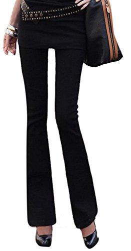 Women's Fashion High Rise Slimming Wide Leg Stretch Denim Flare Bellbottom Jeans
