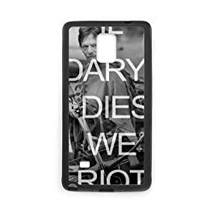 Custom Hard Plastic Back Case Cover for Samsung Galaxy Note 4 with Unique Design Walking Dead