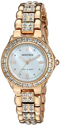 - Armitron Women's 75/3689MPRG Swarovski Crystal Accented Rosegold-Tone Dress Watch