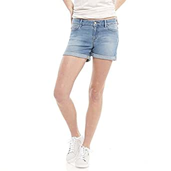Riders by Lee Women Mid Thigh Short, Cascade Blue, 10