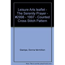 Leisure Arts leaflet - The Serenity Prayer - #2998 - 1997 - Counted Cross Stitch Pattern