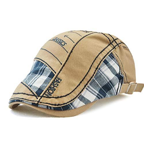 Sombreros Hombre Gorra Libre a Sombrero Sol E GLLH de hat E Cuadros Costuras al qin Aire Sombrero de nwa1q