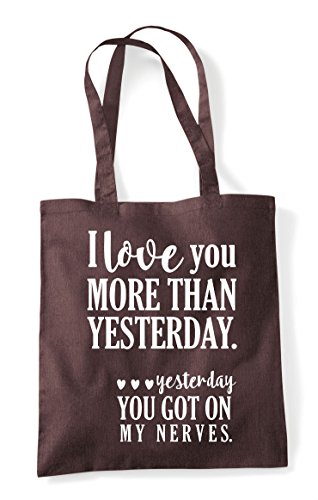 Tote Cheeky Love Than Really Shopper Brown I You Yesterday Nerves Bag More On Statement My Got A7UxRfqF