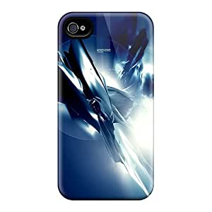 Yiu563ysmc Snap On Cases Covers Skin For Iphone 4/4s(blue Space)