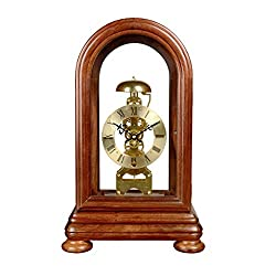 Sso Mechanical Desk Clock Pure Copper Metal Movement White Rosewood Wooden Frame Nordic Retro Table