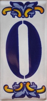 - Fine Crafts Imports Villa Mexican Tile House Number Zero