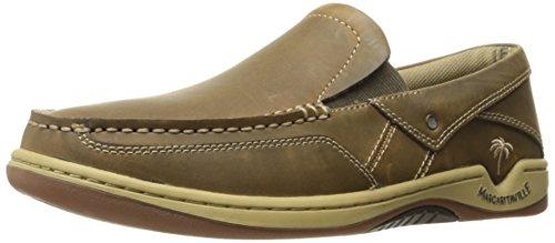 Margaritaville Men's Havana Boat Shoe, Brown, 8 M US Brown Boat Shoe
