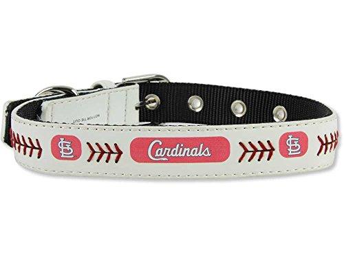 MLB St. Louis Cardinals Classic Leather Baseball Dog Collar