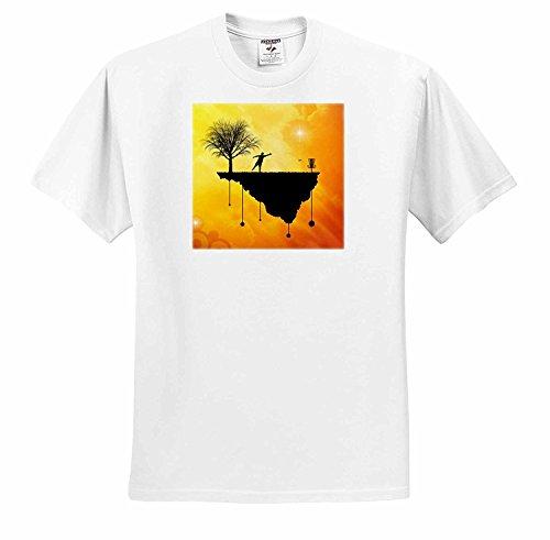 フィルパーキンスディスクゴルフパットのプラスチックその場所でディスクのゴルフのバスケットとパターのシルエットのTシャツ