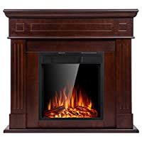 JAMFLY Electric Fireplace Mantel Package...