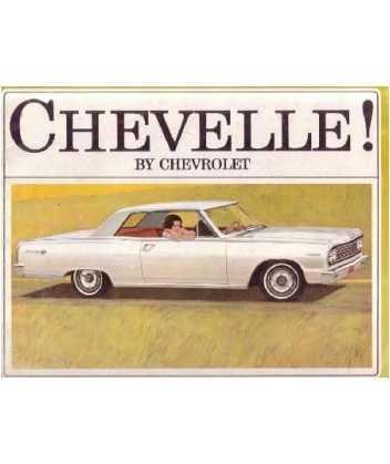 1964 CHEVROLET CHEVELLE Sales Brochure Literature Book