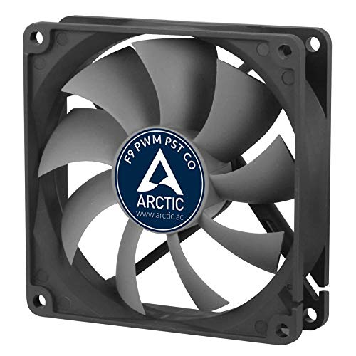 ARCTIC F9 PWM PST CO - 92 mm PWM PST Case Fan for Continuous Operation | Cooler with PST-Port (PWM Sharing Technology) and Dual Ball Bearing | Regulates RPM in sync