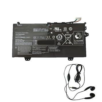 Amsahr L14L4P71-03 - Batería de reemplazo para Lenovo L14L4P71, Yoga 3 Pro 11 80J80021US (Incluye Auricular estéreo) Color Gris: Amazon.es: Informática